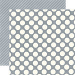Echo Park - Metropolitan Dots and Stripes Collection - 12 x 12 Double Sided Paper - Concrete Large Dot