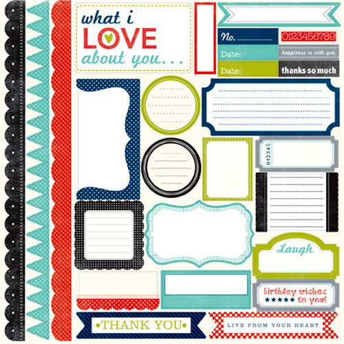 Echo Park - Metropolitan Dots and Stripes Collection - 12 x 12 Cardstock Stickers - Elements