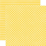 Echo Park - Neapolitan Dots and Stripes Collection - 12 x 12 Double Sided Paper - Pineapple Small Dot