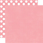 Echo Park - Neapolitan Dots and Stripes Collection - 12 x 12 Double Sided Paper - Berry Bliss Tiny Dot