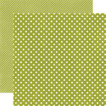 Echo Park - Soda Fountain Dots and Stripes Collection - 12 x 12 Double Sided Paper - Kiwi Small Dot