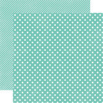 Echo Park - Soda Fountain Dots and Stripes Collection - 12 x 12 Double Sided Paper - Aqua Small Dot