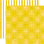 Echo Park - Soda Fountain Dots and Stripes Collection - 12 x 12 Double Sided Paper - Banana Tiny Dot