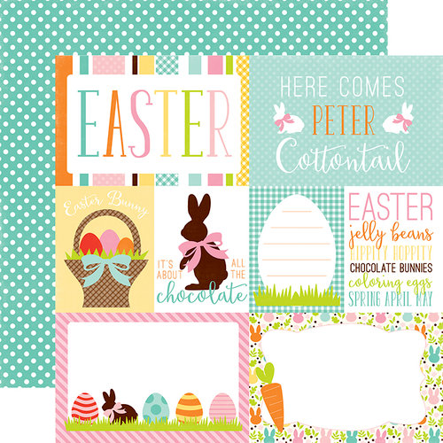 Echo Park - Easter Collection - 12 x 12 Double Sided Paper - Journaling Cards