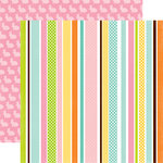 Echo Park - Easter Collection - 12 x 12 Double Sided Paper - Easter Stripe