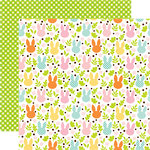 Echo Park - Easter Collection - 12 x 12 Double Sided Paper - Field of Cottontails