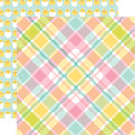 Echo Park - Easter Collection - 12 x 12 Double Sided Paper - Easter Plaid