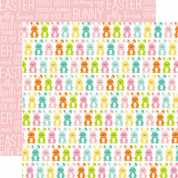 Echo Park - Easter Collection - 12 x 12 Double Sided Paper - Bunny Hop