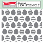 Echo Park - Easter Collection - 6 x 6 Stencil - Easter Eggs