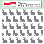 Echo Park - Easter Collection - 6 x 6 Stencil - Bunnies