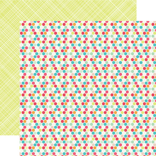 Echo Park - Everyday Eclectic Collection - 12 x 12 Double Sided Paper - Hexagons