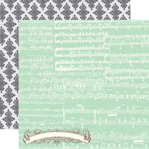 Echo Park - Everyday Eclectic Collection - 12 x 12 Double Sided Paper - Music Notes