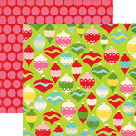 Echo Park - Everybody Loves Christmas Collection - 12 x 12 Double Sided Paper - Ornaments, CLEARANCE