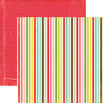 Echo Park - Everybody Loves Christmas Collection - 12 x 12 Double Sided Paper - Bright Stripes, CLEARANCE