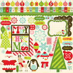 Echo Park - Everybody Loves Christmas Collection - 12 x 12 Cardstock Stickers - Element, CLEARANCE