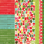 Echo Park - Everybody Loves Christmas Collection - 12 x 12 Cardstock Stickers - Alphabet, CLEARANCE