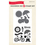 Echo Park - Spring Collection - Designer Die and Clear Acrylic Stamp Set - Bloom Where You're Planted