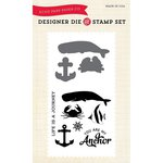 Echo Park - Summer Collection - Designer Die and Clear Acrylic Stamp Set - Down by the Sea
