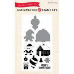 Echo Park - Christmas - Designer Die and Clear Acrylic Stamp Set - Santa's Village