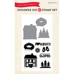 Echo Park - Winter - Designer Die and Clear Acrylic Stamp Set - I Love Winter
