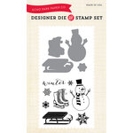 Echo Park - Winter - Designer Die and Clear Acrylic Stamp Set - Snow Day