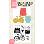 Echo Park - Designer Die and Clear Acrylic Stamp Set - My Friends