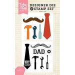 Echo Park - Designer Die and Clear Acrylic Stamp Set - Dad