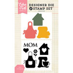 Echo Park - Designer Die and Clear Acrylic Stamp Set - Mom