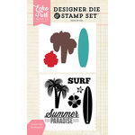 Echo Park - Designer Die and Clear Acrylic Stamp Set - Summer Surf