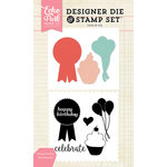 Echo Park - Designer Die and Clear Acrylic Stamp Set - Happy Birthday