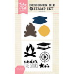 Echo Park - Designer Die and Clear Acrylic Stamp Set - Under the Stars