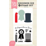 Echo Park - Designer Die and Clear Acrylic Stamp Set - 4th of July