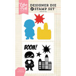 Echo Park - Designer Die and Clear Acrylic Stamp Set - Superhero