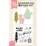 Echo Park - Designer Die and Clear Acrylic Stamp Set - Winter Wishes