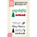 Echo Park - Christmas - Designer Die and Clear Acrylic Stamp Set - Christmas Greetings