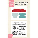 Echo Park - Designer Die and Clear Acrylic Stamp Set - Winter Greetings