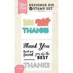 Echo Park - Designer Die and Clear Acrylic Stamp Set - Thanks