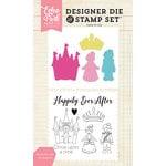 Echo Park - Designer Die and Clear Acrylic Stamp Set - Happily Ever After