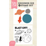 Echo Park - Designer Die and Clear Acrylic Stamp Set - Blast Off