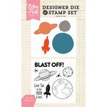 Echo Park - Designer Die and Clear Acrylic Stamp Set - Blast Off