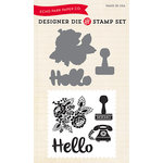 Echo Park - Designer Die and Clear Acrylic Stamp Set - Hello Again