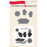 Echo Park - Christmas - Designer Die and Clear Acrylic Stamp Set - Let it Snow