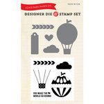 Echo Park - We Are Family Collection - Designer Die and Clear Acrylic Stamp Set - Hot Air Balloon