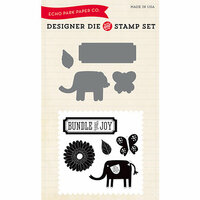 Echo Park - Designer Die and Clear Acrylic Stamp Set - Little Lady