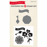 Echo Park - Designer Die and Clear Acrylic Stamp Set - Life is Good