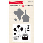 Echo Park - Designer Die and Clear Acrylic Stamp Set - Wish Big