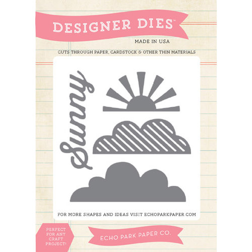 Echo Park - Walking On Sunshine Collection - Designer Dies - Sun and Clouds