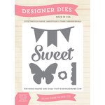 Echo Park - We Are Family Collection - Designer Dies - Sweet, Butterfly, Banner
