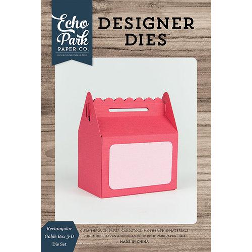 Echo Park - Designer Dies - 3D Rectangular Gable Box