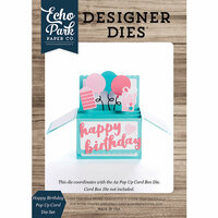 Echo Park - Designer Dies - Pop Up Card - Happy Birthday